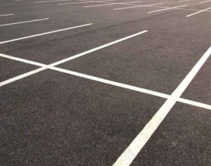 Empty parking lots